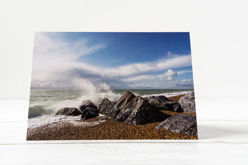 Breaking Waves Greetings Card – Scene by Emma