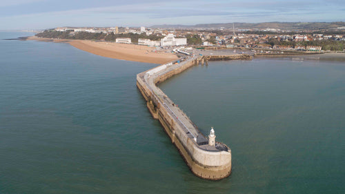Harbour Arm from the air - Dirk Seyfried - Made In Folkestone
