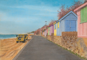 'Escape to the Beach Huts' Framed Print - Hilary Firth