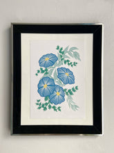 Load image into Gallery viewer, Royal Blue Floral Print - Lucy Hunter Illustration - Made In Folkestone