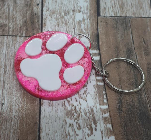 Paw Print Keyrings - Natural Sparkes - Made In Folkestone