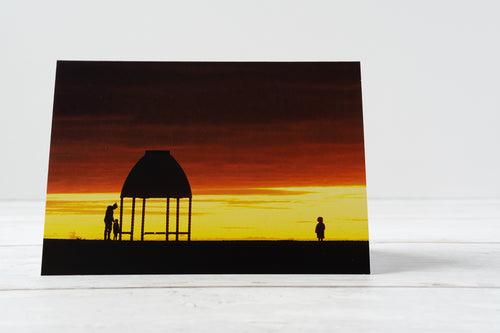 Sunset Silhouette Greetings Card – Scene By Emma