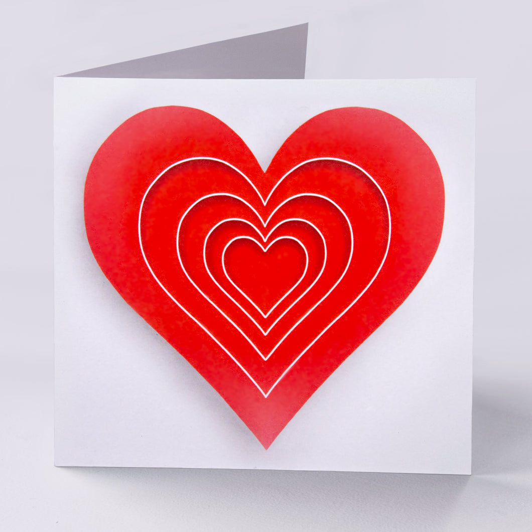 Large Red Heart Blank Card - Goosemoose Paint