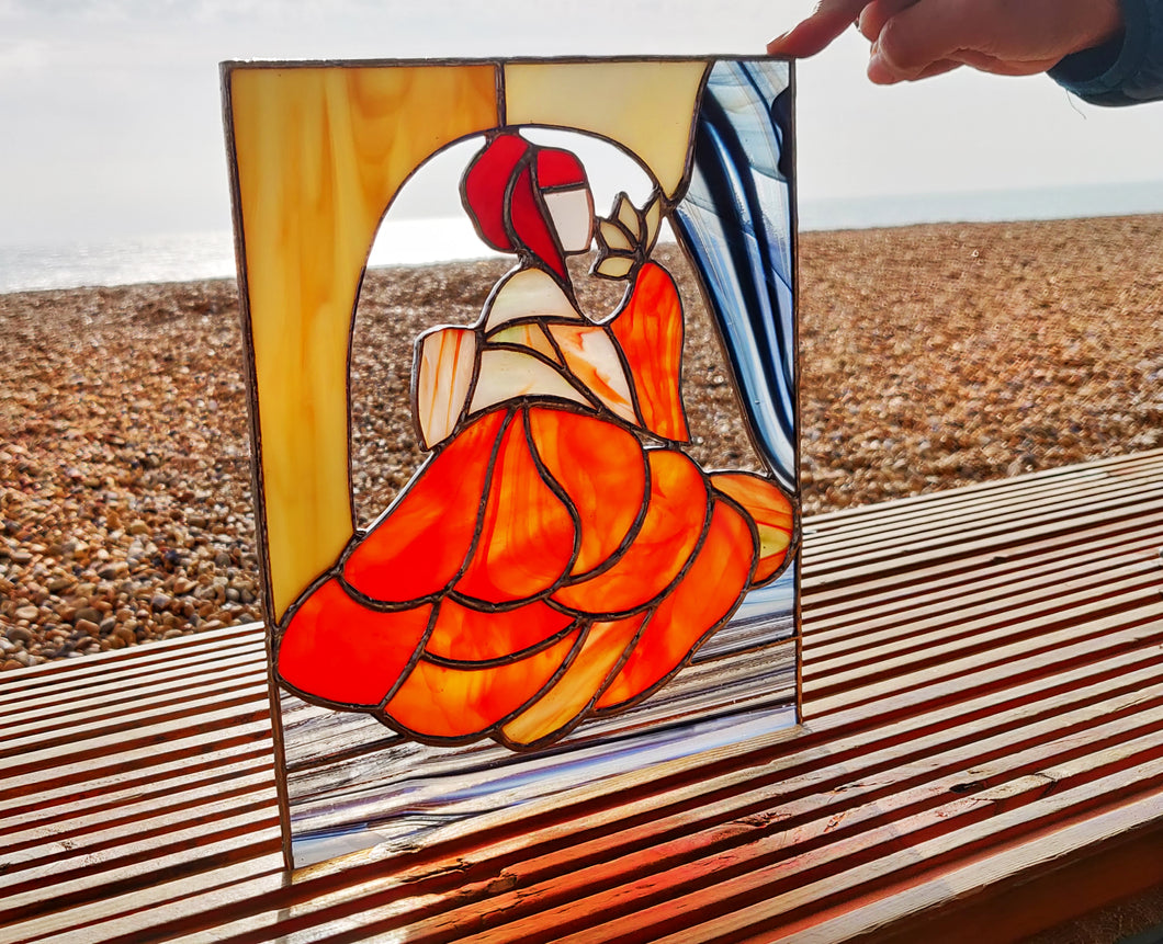 Geisha Stained Glass Picture - Art Studio Krea - Made In Folkestone