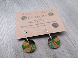 Hand Illustrated Hoop Earrings - Stacey Scott Designs