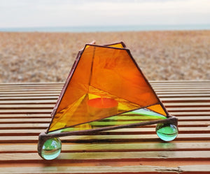 Glass Pyramid Candle Holder - Art Studio Krea - Made In Folkestone