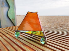 Load image into Gallery viewer, Glass Pyramid Candle Holder - Art Studio Krea - Made In Folkestone