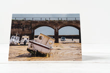 Load image into Gallery viewer, Folkestone Harbour Greetings Card – Scene By Emma