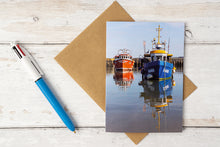 Load image into Gallery viewer, Harbour Reflections Greetings Card – Scene By Emma