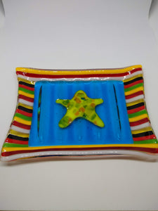Starfish Glass Dish - Glass Fusion