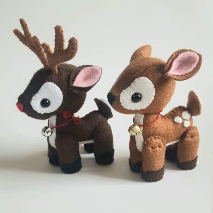 Felt Reindeers - Seasonal Crafts