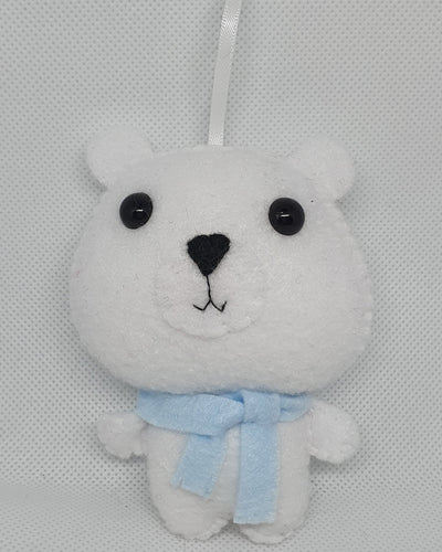 Felt Hanging Polar Bear - Seasonal Crafts