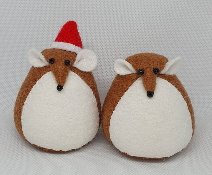 Felt Christmas Mice - Seasonal Crafts