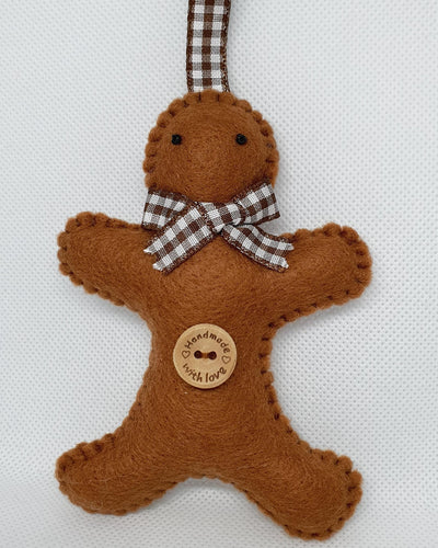 Felt Hanging Gingerbread Man - Seasonal Crafts