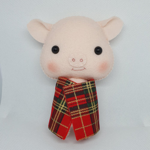 Felt Hanging Pig in Blanket - Seasonal Crafts