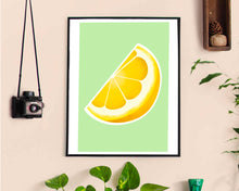 Load image into Gallery viewer, Lemon Fruit Print - Indigo Abbie Art - Made In Folkestone