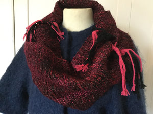 Wine Hand Woven Scarf - Yarncrafts
