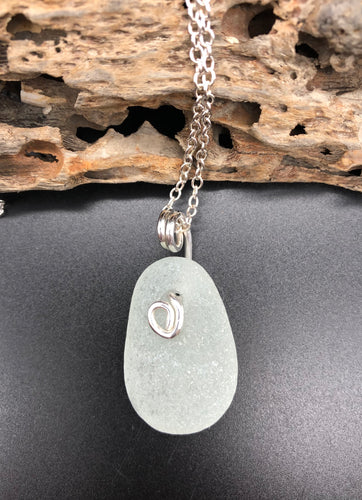Chunky Sea Foam Intertwined With Sterling Silver Pendant - Silver By The Sea - Made In Folkestone