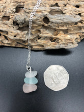 Load image into Gallery viewer, Pretty Pale Sea Glass Pendant - Silver By The Sea - Made In Folkestone