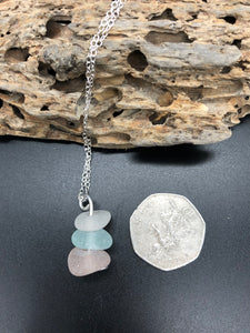 Pretty Pale Sea Glass Pendant - Silver By The Sea - Made In Folkestone