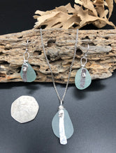Load image into Gallery viewer, Sea Foam Sea Glass & Silver Jewellery Set - Silver By The Sea - Made In Folkestone