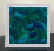Load image into Gallery viewer, 'Blue and Green' Unique Hand Painted Greetings Card - Mandy Aldridge - Made In Folkestone