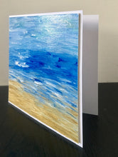 Load image into Gallery viewer, 'Sea Waves' Hand Painted Unique Greetings Card - Mandy Aldridge - Made In Folkestone