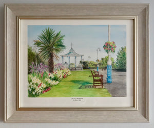'The Leas Bandstand' Framed Print - Hilary Firth
