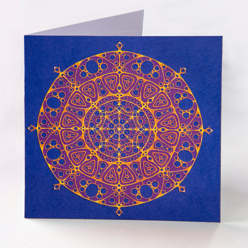 Blue Pattern Blank Card - Goosemoose Paint - Made In Folkestone