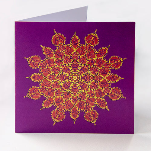 Purple Rings Greetings Card - Goosemoose Paint - Made In Folkestone