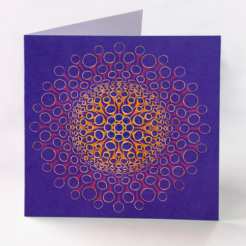 Purple Tubes Greetings Card - Goosemoose Paint - Made In Folkestone