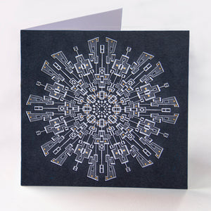 Grey Circuit Greetings Card - Goosemoose Paint