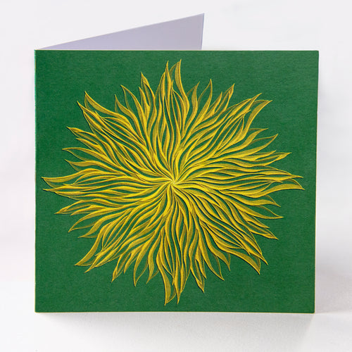 Green Star Greetings Card - Goosemoose Paint
