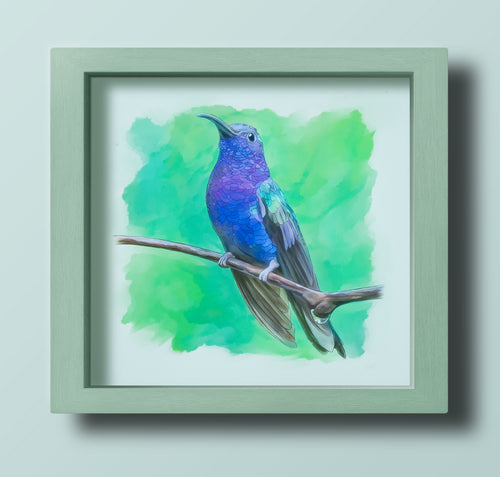 Blue Hummingbird - Goosemoose Paint - Made In Folkestone