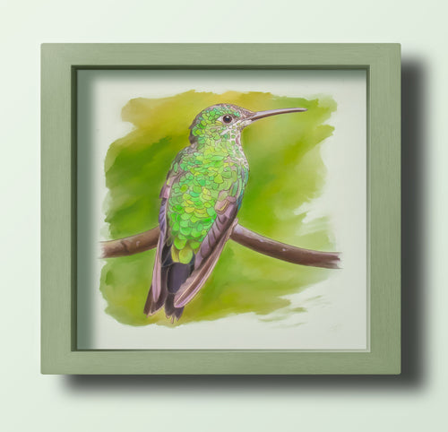 Green Hummingbird left - Goosemoose Paint - Made In Folkestone
