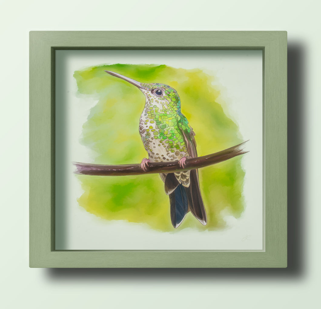 Green Hummingbird Right - Goosemoose Paint