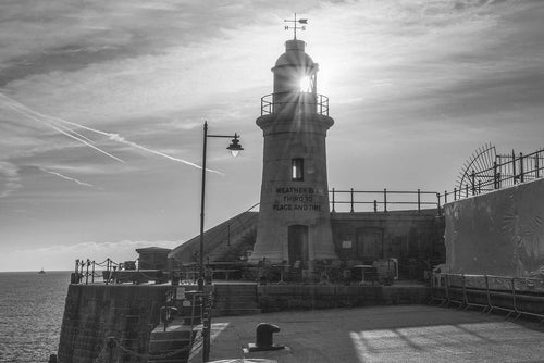 Lighthouse in Black and White Mounted Print - Dirk Seyfried - Made In Folkestone