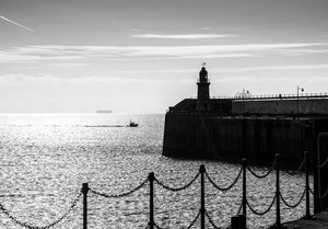 Lighthouse and Chains Mounted Print - Dirk Seyfried - Made In Folkestone