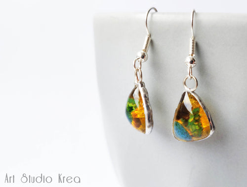 Murano Glass Silver Earrings - Art Studio Krea - Made In Folkestone
