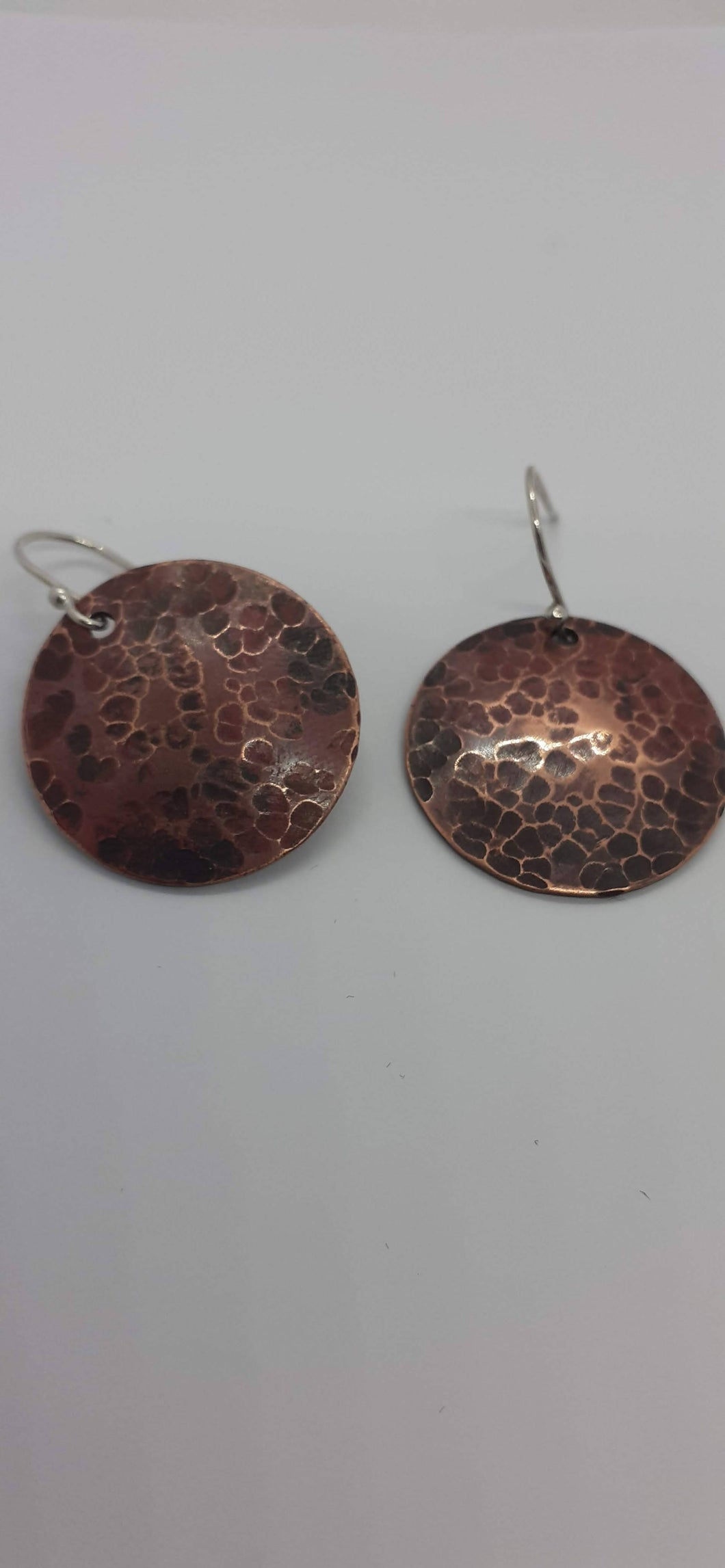 Copper Disc Earrings - Jewellery By Rebecca
