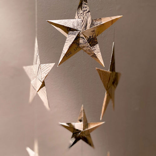 Hand Folded Origami Star Hanging Decorations - Edy & Fig