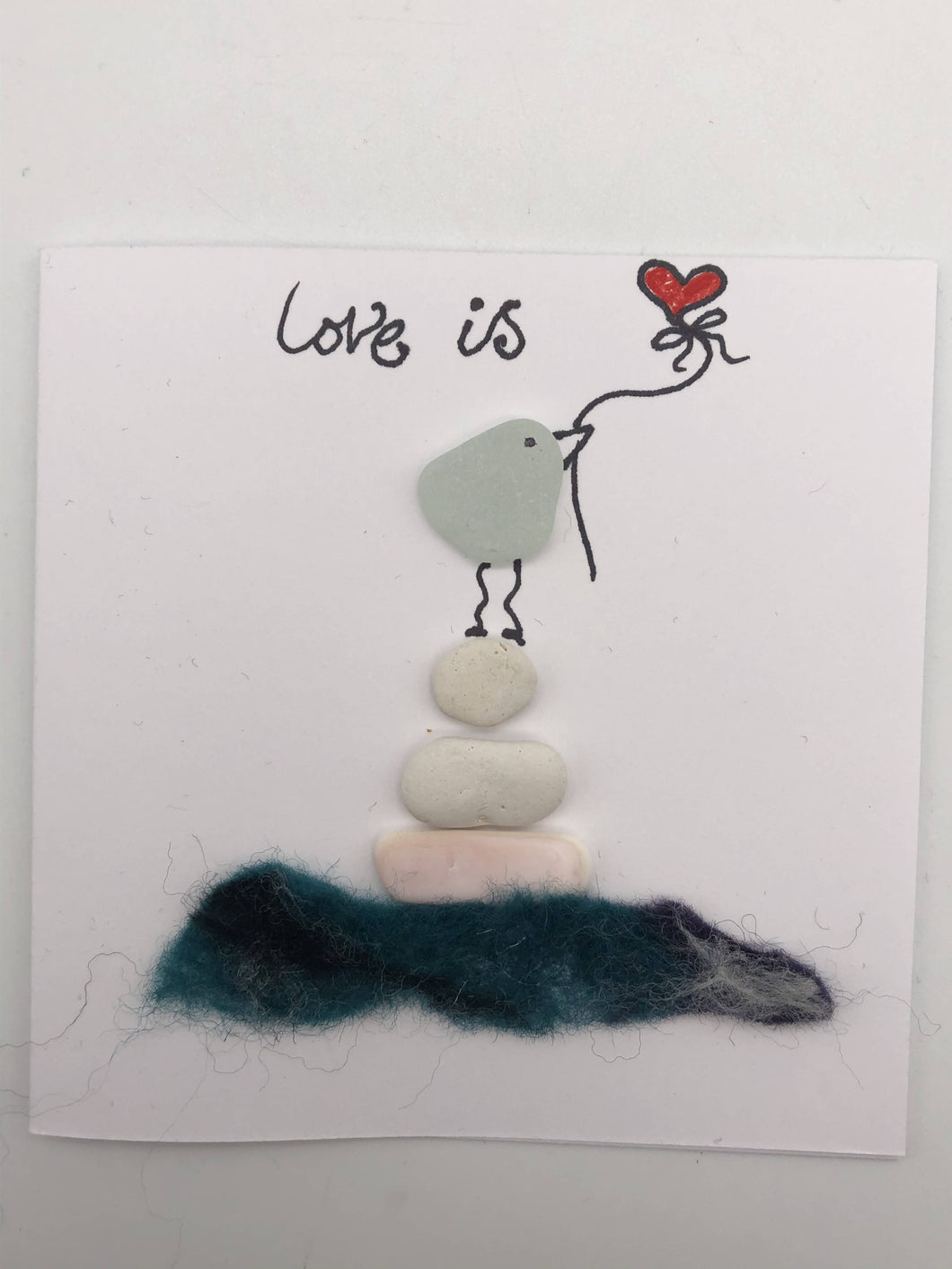 Love is Small Card (0025) - Silver By The Sea