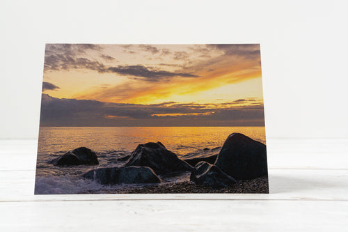 Sandgate Sunset Greetings Card – Scene By Emma