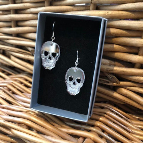 Skull Earrings - R&R aka 2 Quirky Birds - Made In Folkestone