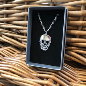 Skull Necklace - R&R aka 2 Quirky Birds - Made In Folkestone
