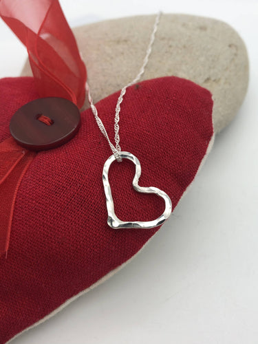 Sterling Silver Heart Pendant - Silver By The Sea