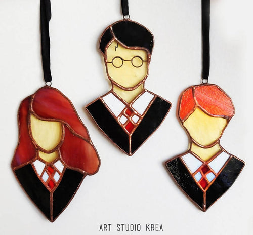 The Golden Trio HP Hanging Decoration - Art Studio Krea
