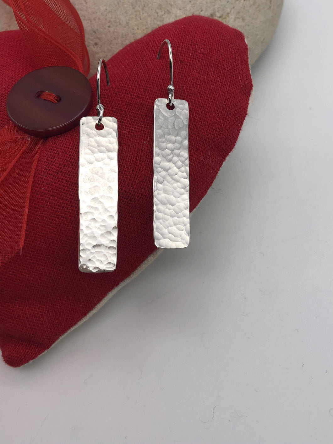 Elegant long sterling silver dangly earrings (sser0079)