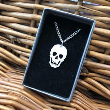 Load image into Gallery viewer, Skull Necklace - R&R aka 2 Quirky Birds - Made In Folkestone