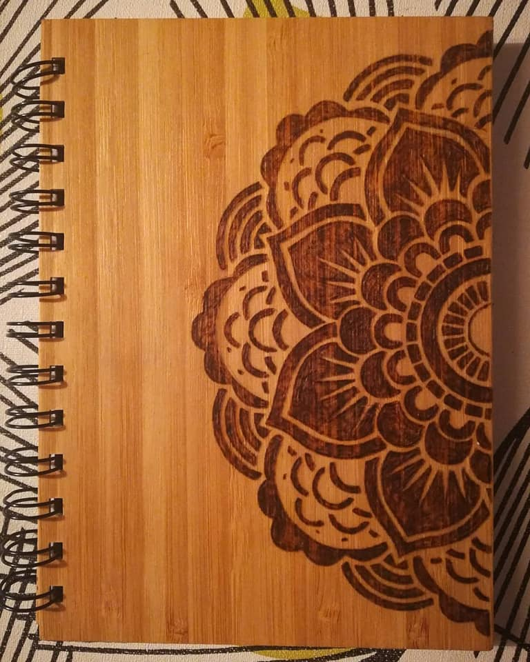 Mandala Art Wooden Notebook - Mishi Makes - Made In Folkestone